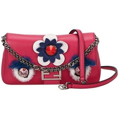 Pink Fendi Monster Micro-Baguette Bag