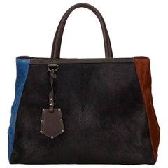Multicolor Fendi 2Jours Pony Hair Tote Bag