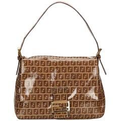 Tan Fendi Zucchino Shoulder Bag