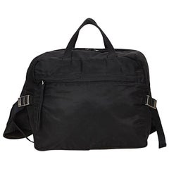 Black Prada Nylon Convertible Bag
