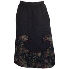 Koos Brown wave patch skirt