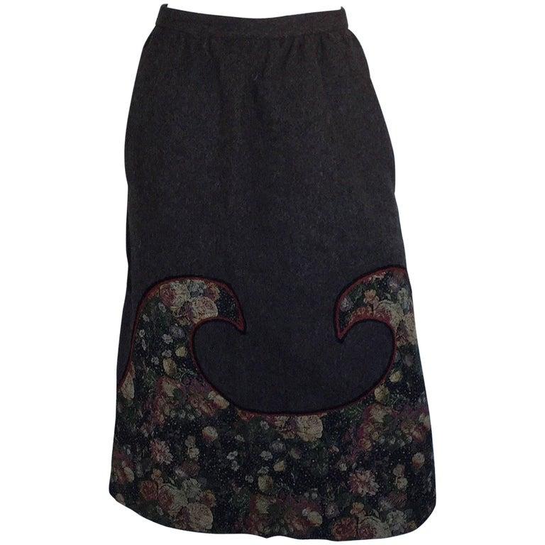 Koos Brown wave patch skirt