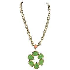 Green Vintage Gerard Yosca Pendant Necklace