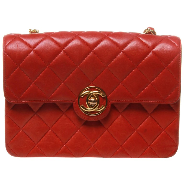 Chanel Vintage Red Mini Classic Flap Bag