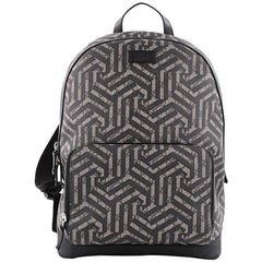 Gucci Zip Pocket Backpack Caleido Print GG Coated Canvas Medium