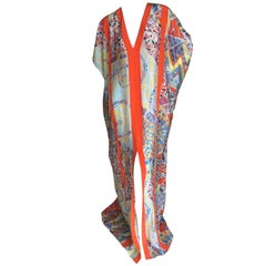 Emilio Pucci Sheer Kaleidoscope Silk Caftan Beach Coverup New with Tags Unisex