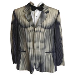 Jean Paul Gaultier 1980's Men Rare Op Art Torso Jacket Size 42