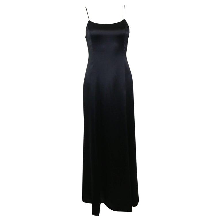 9f0fbdcf5b Chanel Black Spaghetti Strap Backless Silk Maxi Dress For Sale at ...