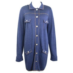 Chanel Blue Wool Denim Like Tunic/Dress
