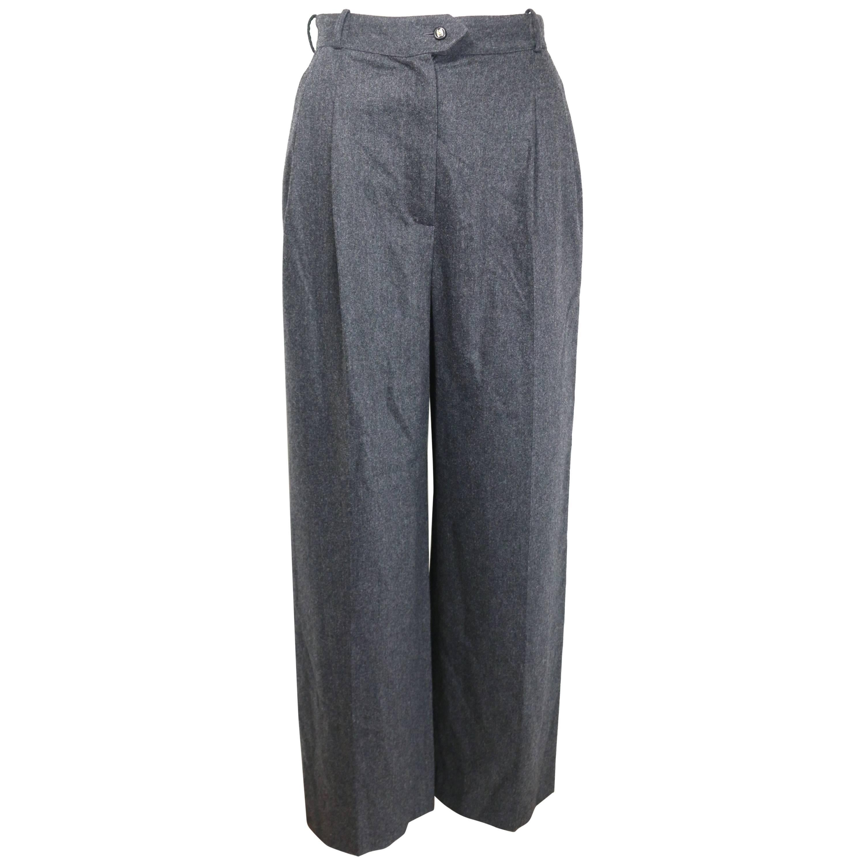 Vintage 90s Chanel Grey Wool Pants