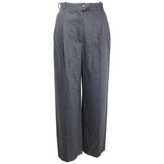 Vintage 90s Chanel Grey Wool Pants
