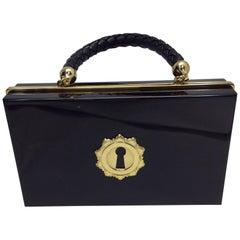 Charlotte Olympia Black Acrylic Box Clutch