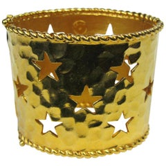 Celine Wide Cuff Bracelet Be a Star New, Never Worn 1990s