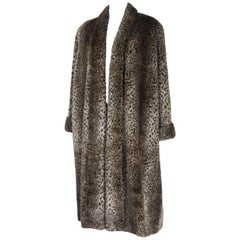 Comme des Gracons 1990s Faux Fur Animal Print Coat