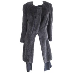 Comme des Garcons 1997 Collection Faux Fur Curved Seam Coat
