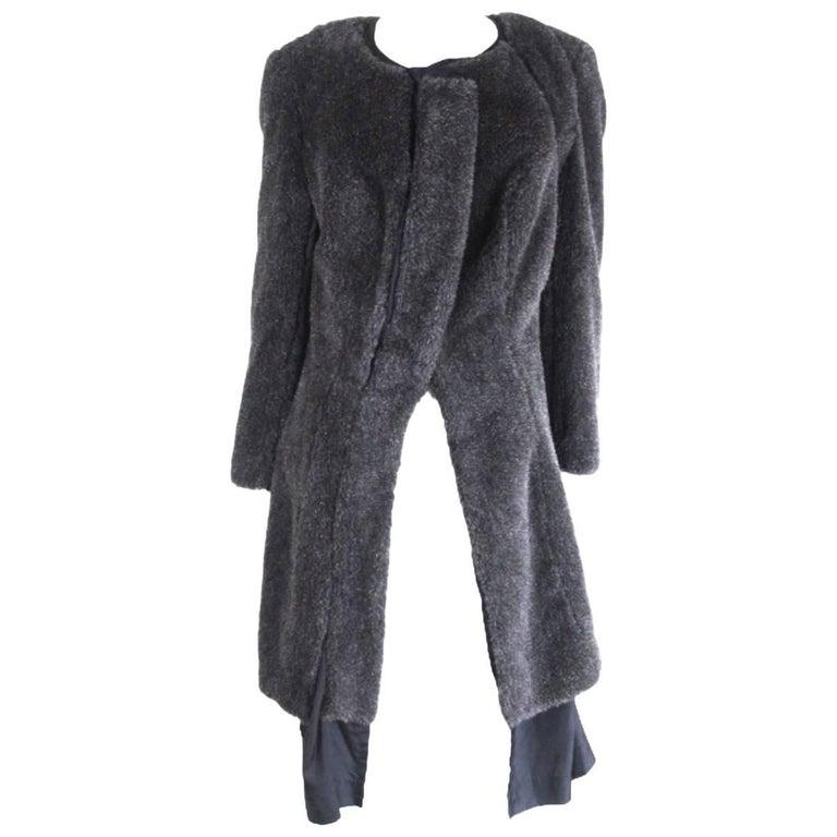 Comme des Garcons 1997 Collection Faux Fur Curved Seam Coat