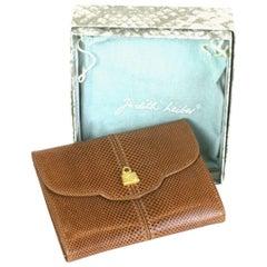 Judith Leiber Snakeskin Wallet