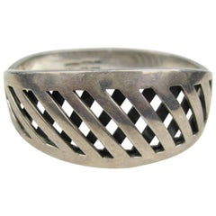 Vintage 1970's Sterling Silver Mexican Bangle Bracelet