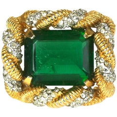 Early K.J.L. Emerald Brooch