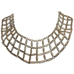 1970s Marked Sterling Silver Linked Collar
