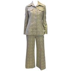 1970s Kent Originals Gold Lame Outfit