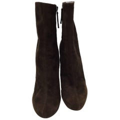Guiseppe Zanotti Brown Suede Ankle Boots