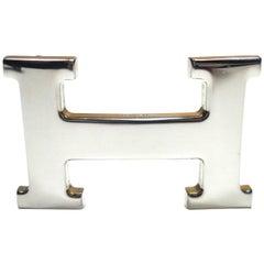 HERMES H Constance Belt Buckle Palladium for 32mm strap / Good Condition