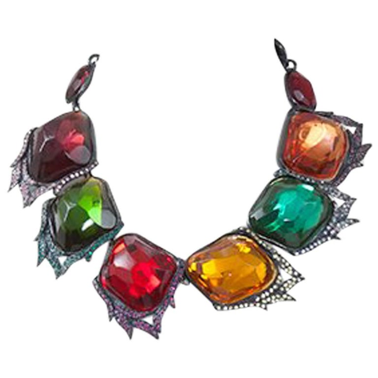 Yves Saint Laurent Leaves Necklace For Sale