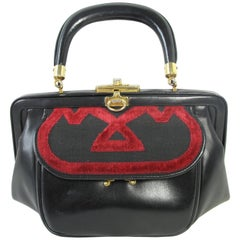 Roberta di Camerino Velvet and Leather Purse