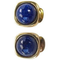 Christian Dior Lapis Earrings