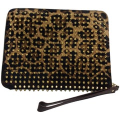 Christian Louboutin NWT Case Pony Leopard Luxor Spikes