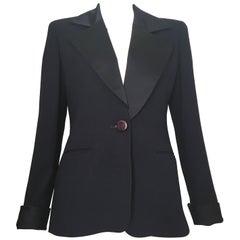 Dior Navy Tuxedo Jacket Size 4.