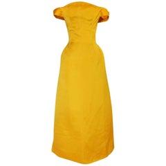 Book Piece 1962 Balenciaga Haute Couture Silk Sculpted Gown