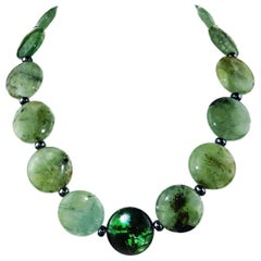 Green Brazilian Prehnite Necklace