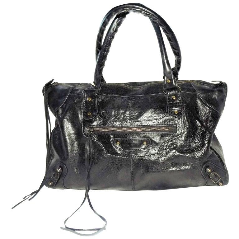 Balenciaga Moto Citi Black Satchel bag