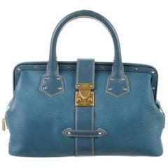 Louis Vuitton Suhali L'ingenieux Handbag Blue Satchel  Bag