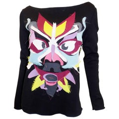 "Kenzo ""TOTEM"" patchwork top swater"