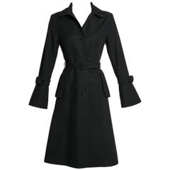Martin Grant Classic Black  Belted Trench Coat