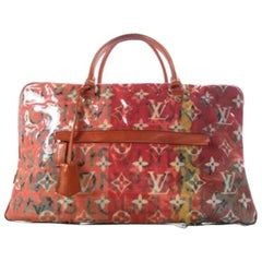 Louis Vuitton Limited Edition Monogram Large Travel Carryall Tote Duffle Bag