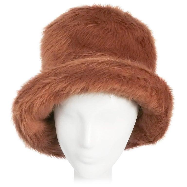 1970s Mr. John Faux Fur Bucket Hat