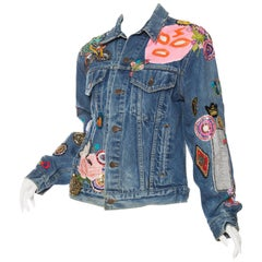 Gucci style embellished Levi jean jacket, Unleased collaboration