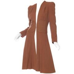 1930s Biba Style Wool Coat