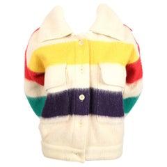 "Jean-Charles de Castelbajac Wool ""Hudson Bay"" Blanket Coat, 1970s"