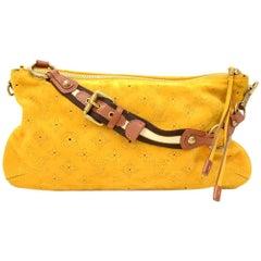 Louis Vuitton Onatah Pochette Yellow Fleurs Suede Leather Shoulder Bag - Limited