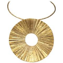 2000s Herve Van Der Straeten gilded metal breastplate