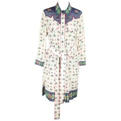 GUCCI Multicolor Silk SHIRT DRESS Long Sleeve