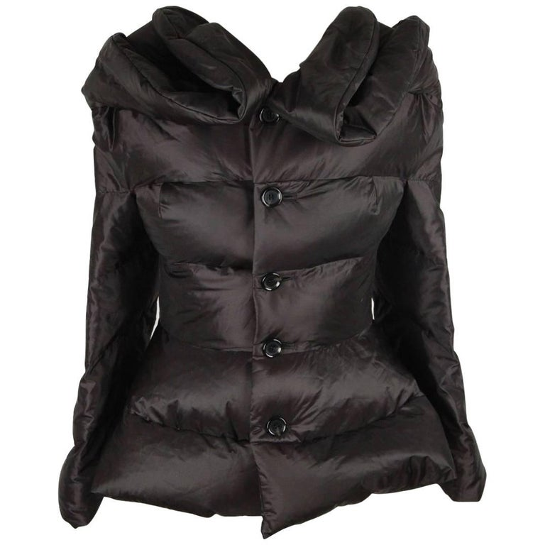 JUNIA WATANABE COMME DES GARCONS Black Nylon DOWN JACKET Size M