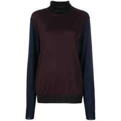 Hermes Silk Long Sleeve Turtleneck