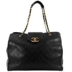 Chanel Vintage Supermodel Weekender Bag Quilted Leather Large
