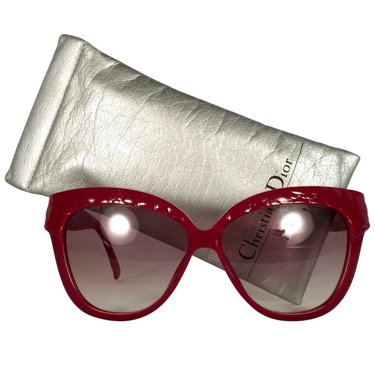 Mint Vintage Christian Dior 2321 Quilted Red Optyl Sunglasses Germany